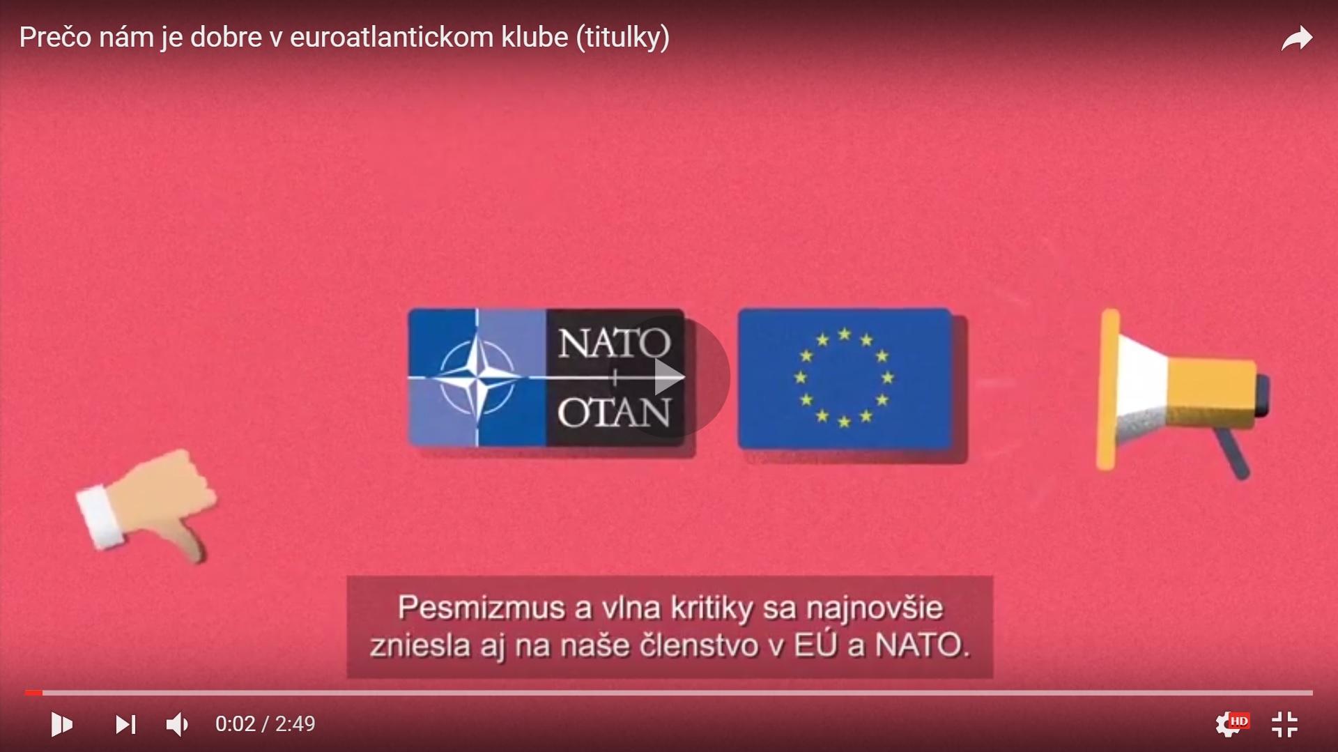 Videoexplainer: Prečo nám je dobre v euroatlantickom klube