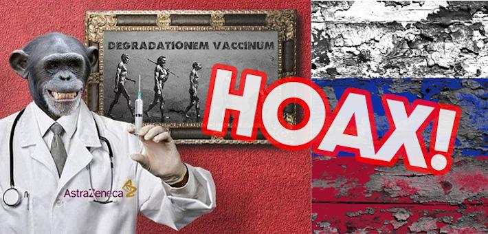 Oxfordská vakcína premení ľudí na opice. Ďalší bizár od ruských konšpirátorov